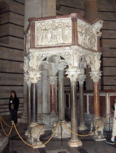 Niccolo Pisano. Baptistery Chair in Pisa