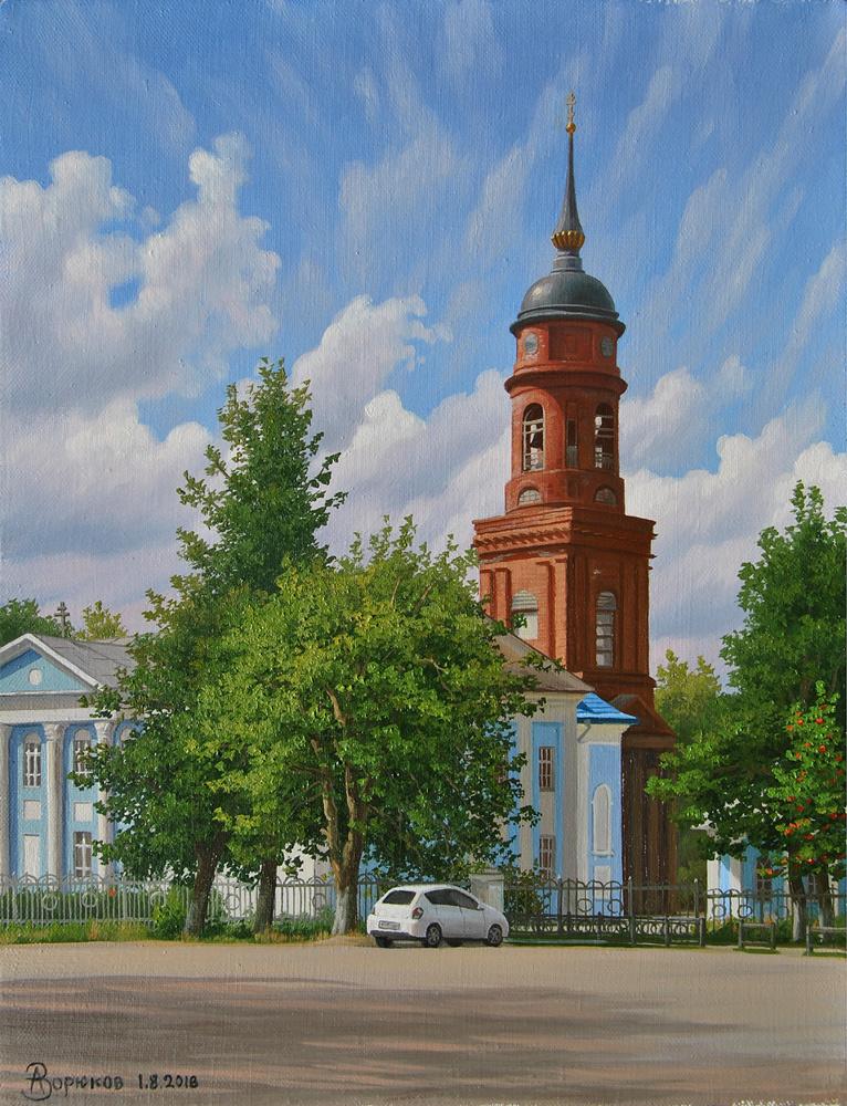 Alexander Vasilyevich Zoryukov. View of the Church of the Icon of the Mother of God. Lyudinovo.