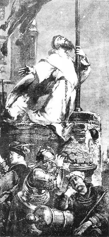 Ян Матейко. Августин Кордеки молит Бога о помощи