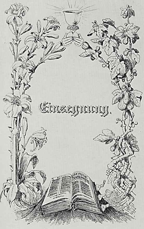 """Адольф фон Менцель. """"Альбом для увековечения памяти о важных событиях семейной жизни"""" Конфирмация"""