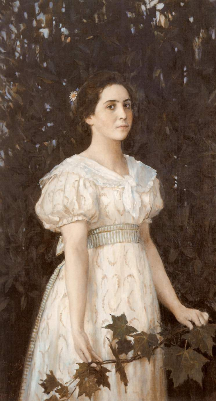 Viktor Vasnetsov. Portrait Of Vera Mamontova Sauverny