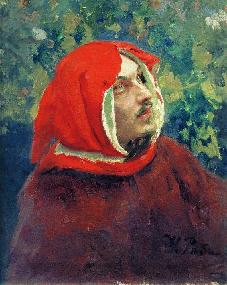 Илья Ефимович Репин. Портрет Данте. Этюд