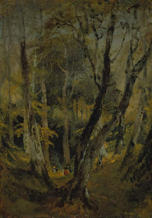Joseph Mallord William Turner. Beech wood with Gypsies seated in the distance