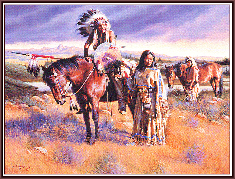 Рисунки художников о индейцах