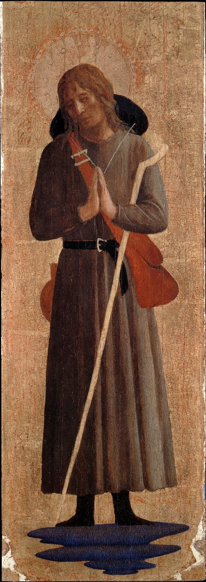 Фра Беато Анджелико. Святой Рох. Пилястра алтаря монастыря Сан Марко