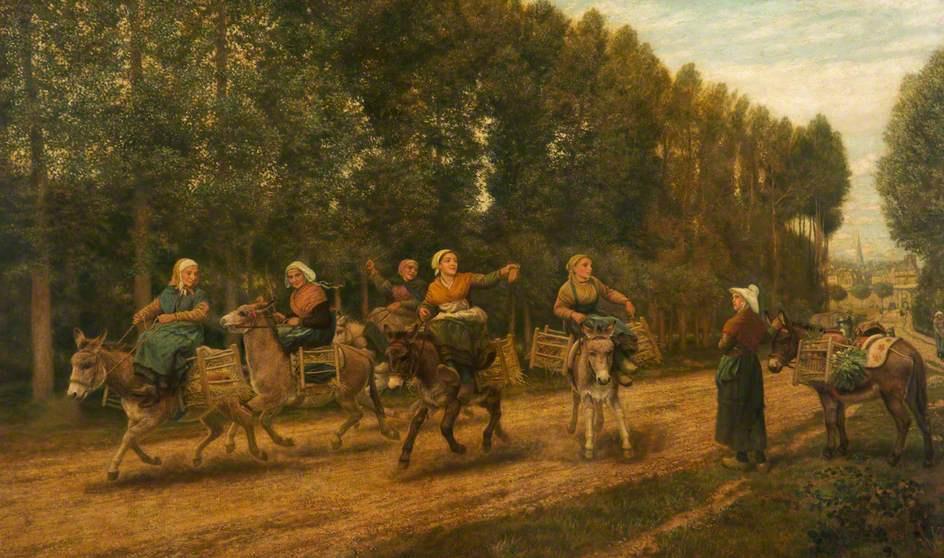 Артур Хьюз. Рыночные торговки в Бретани