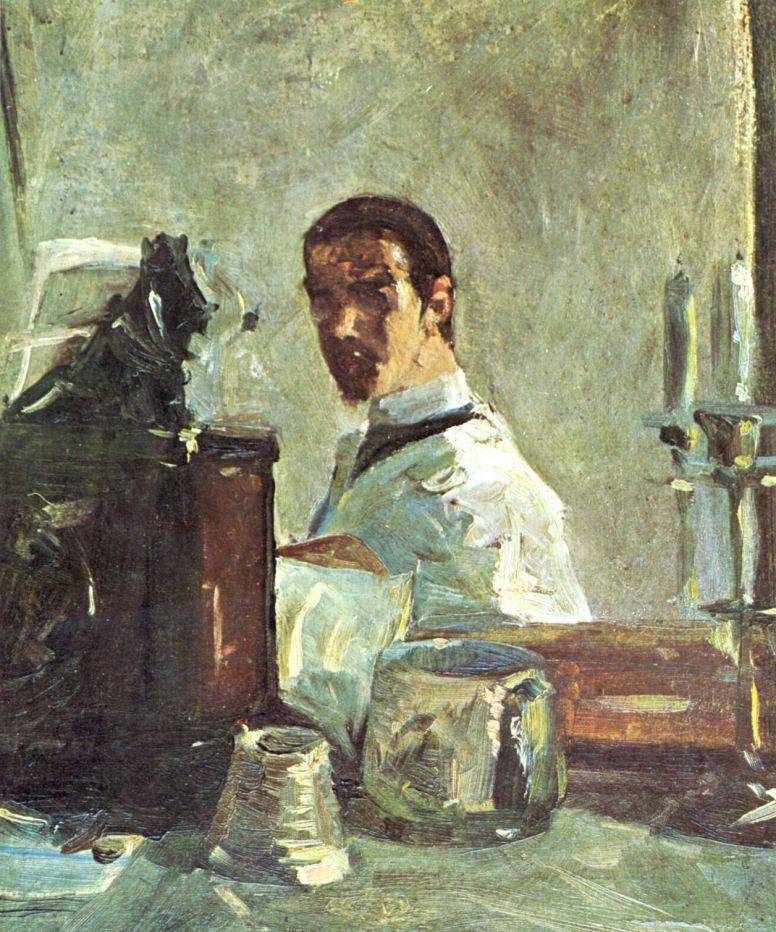 Henri de Toulouse-Lautrec. Self-Portrait In Front Of A Mirror