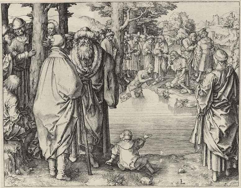 Лукас ван Лейден (Лука Лейденский). Крещение Христа