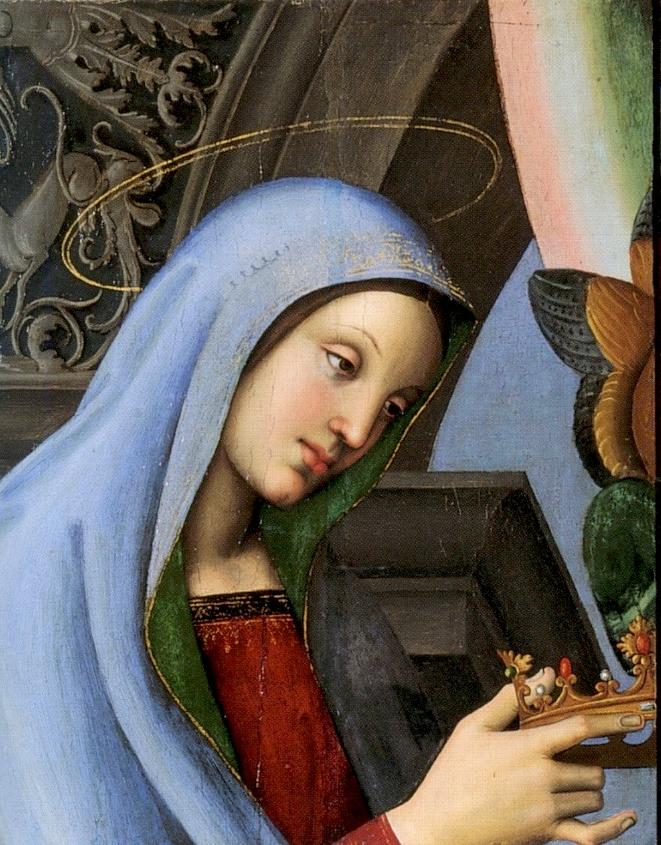 Raphael Sanzio. Алтарь Барончи. Фрагмент: Дева Мария