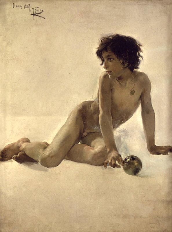 Хоакин Соролья (Соройя). Мальчик с мячом
