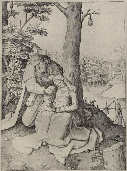 Лукас ван Лейден (Лука Лейденский). Святое семейство