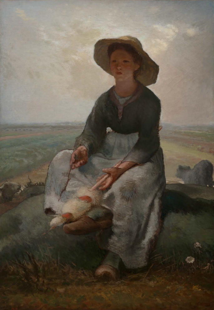 Jean-François Millet. Young cowgirl