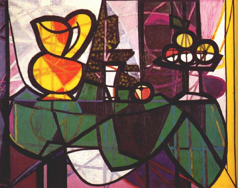 Пабло Пикассо. Кувшин и ваза с фруктами