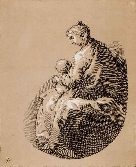 Абрахам Блумарт. Мать и дитя