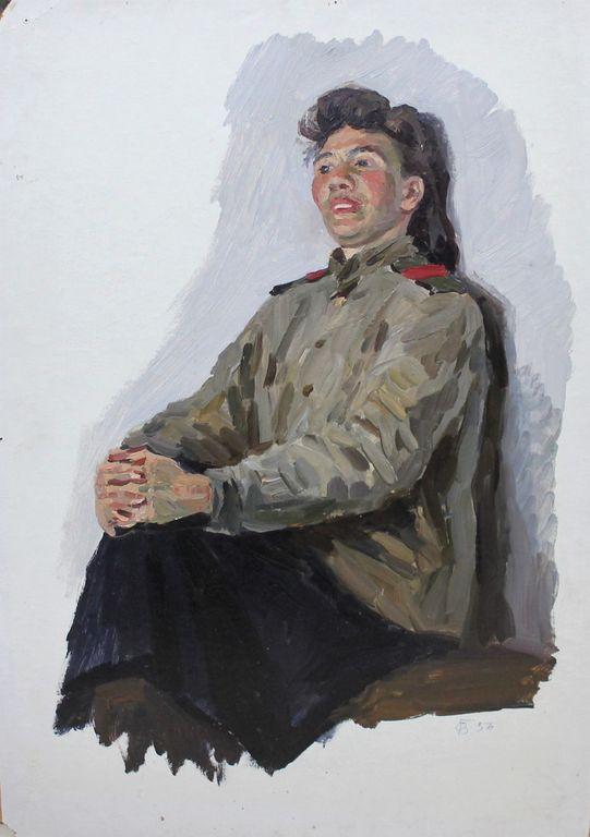 Orest Georgievich Betekhtin. Seated girl
