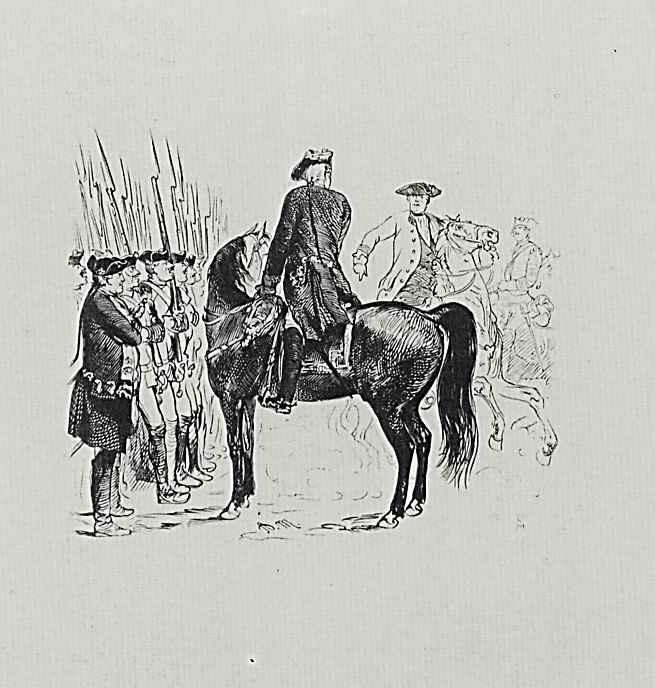 """Адольф фон Менцель. Иллюстрация к книге Франца Куглера """"История Фридриха Великого"""""""