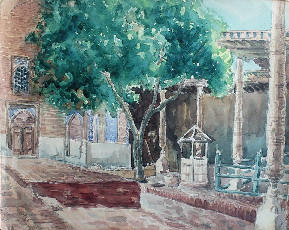 Grigory Nikolaevich Tomaev. Palvan-Ata. Mosque courtyard
