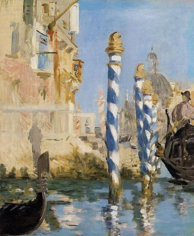Edouard Manet. The Grand canal in Venice