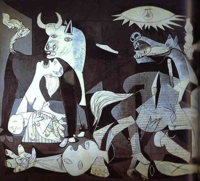 Pablo Picasso. Guernica (detail)