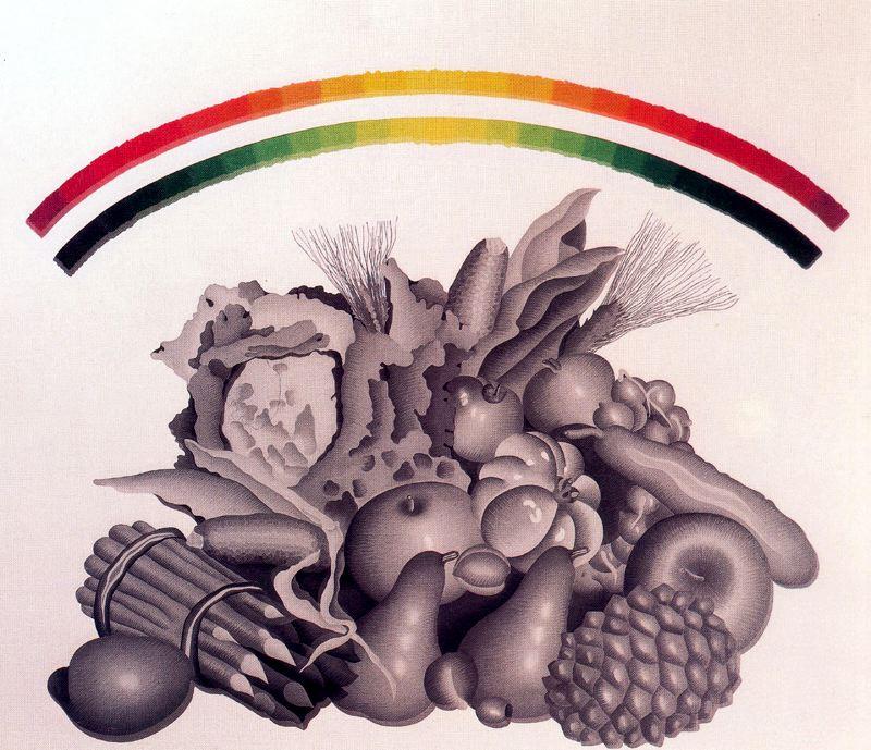 Concetto Pozatti. Still life with fruits
