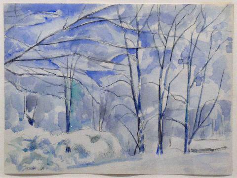 Чарлз Шилер. Зимний пейзаж