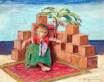 Vasyl Hryhorovych Krychevsky. Still life with doll