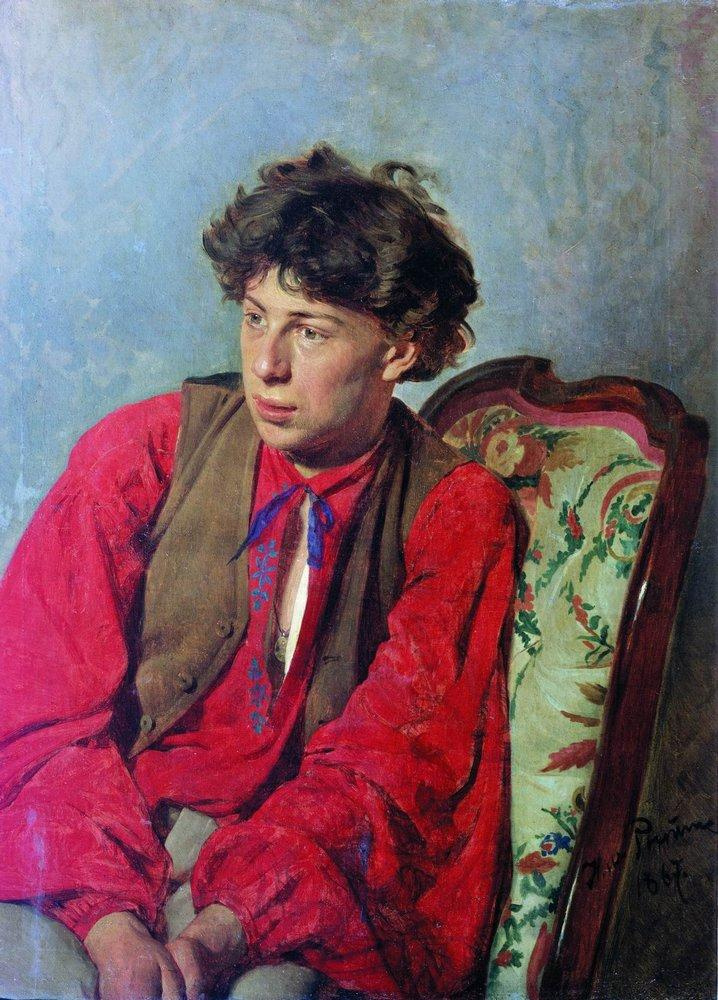 Илья Ефимович Репин. Портрет В.Е.Репина, брата художника, впоследствии музыканта