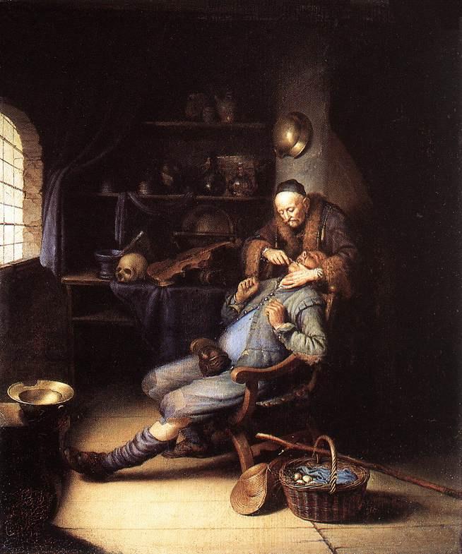 Gerrit (Gerard) Dow. Tooth extraction