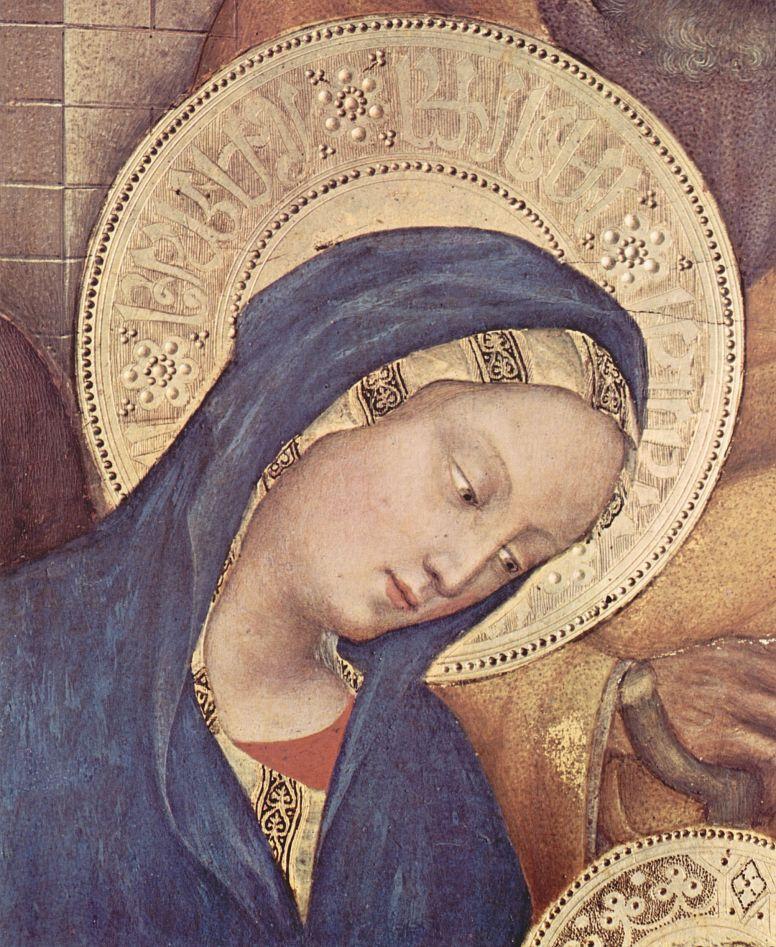 Джентиле да Фабриано. Поклонение волхвов, деталь: Мария
