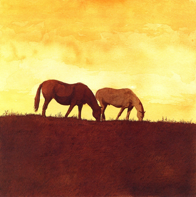 Барри Мозер. Две лошади