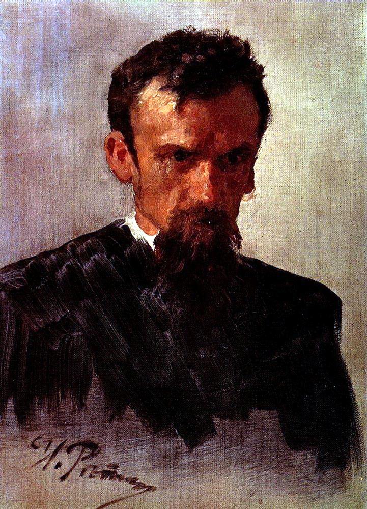 Илья Ефимович Репин. Голова мужчины. Этюд