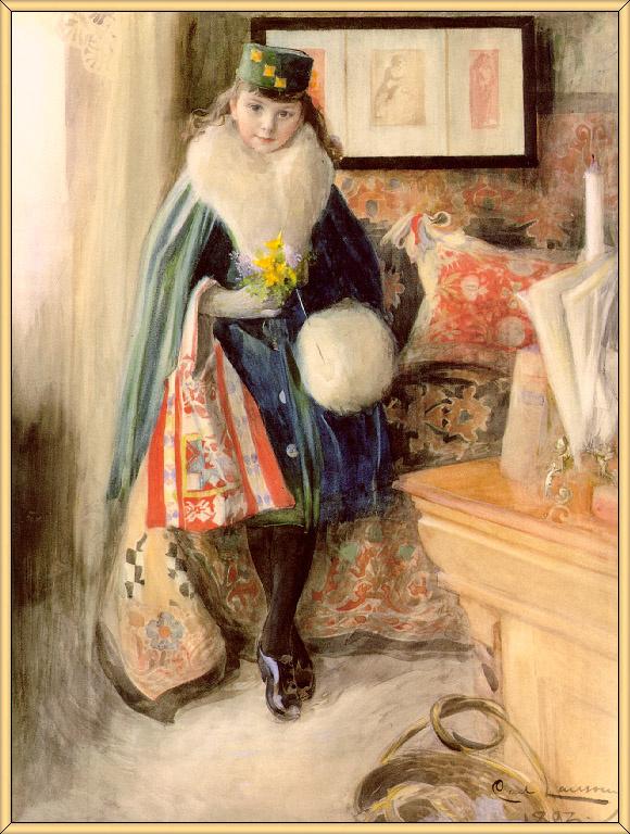 Карл Ларссон. Портрет Анны-Марии
