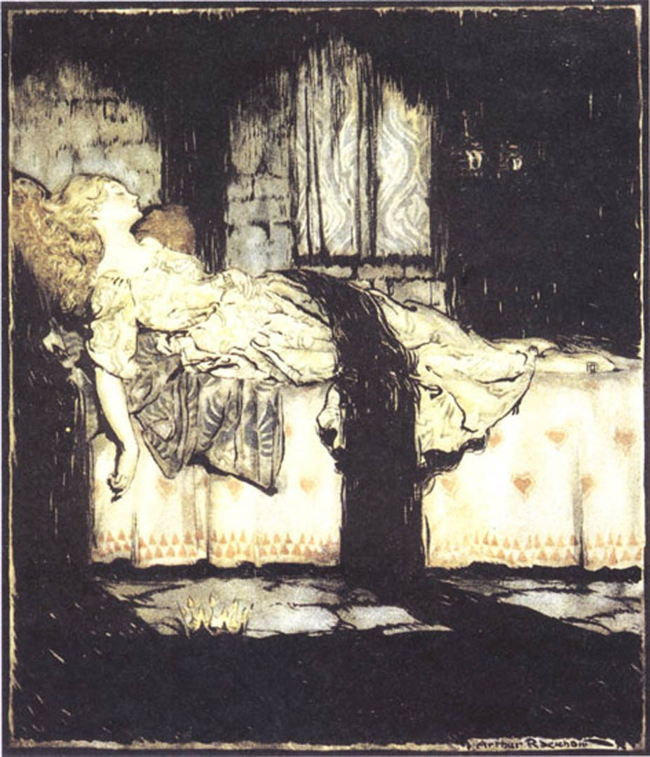 Arthur Rackham. Sleeping beauty