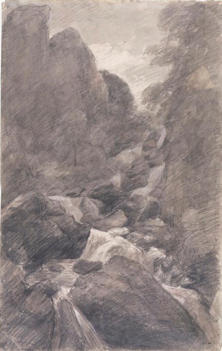 John Constable. Waterfall