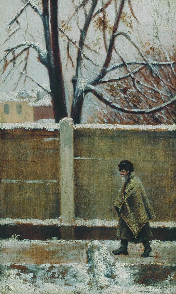Leonid Ivanovich Solomatkin. At the fence