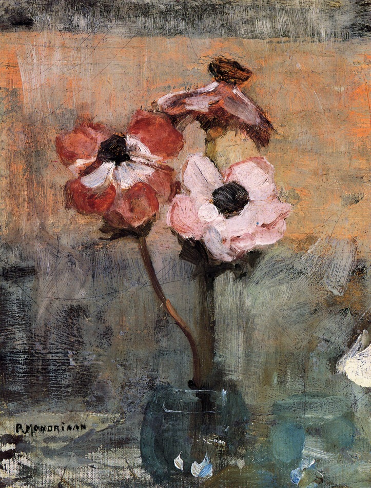 Anemones In A Vase By Pete Mondrian History Analysis Facts