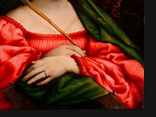 Lorenzo Lotto. St. Catherine (fragment)