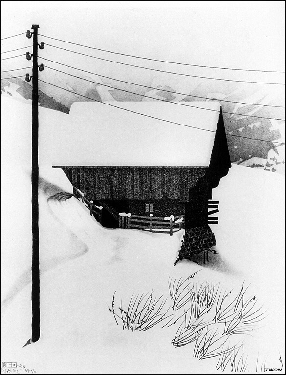 Мауриц Корнелис Эшер. Снег
