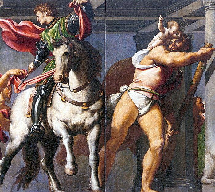 Джованни Антонио Порденоне. Святые Мартин и Христофор