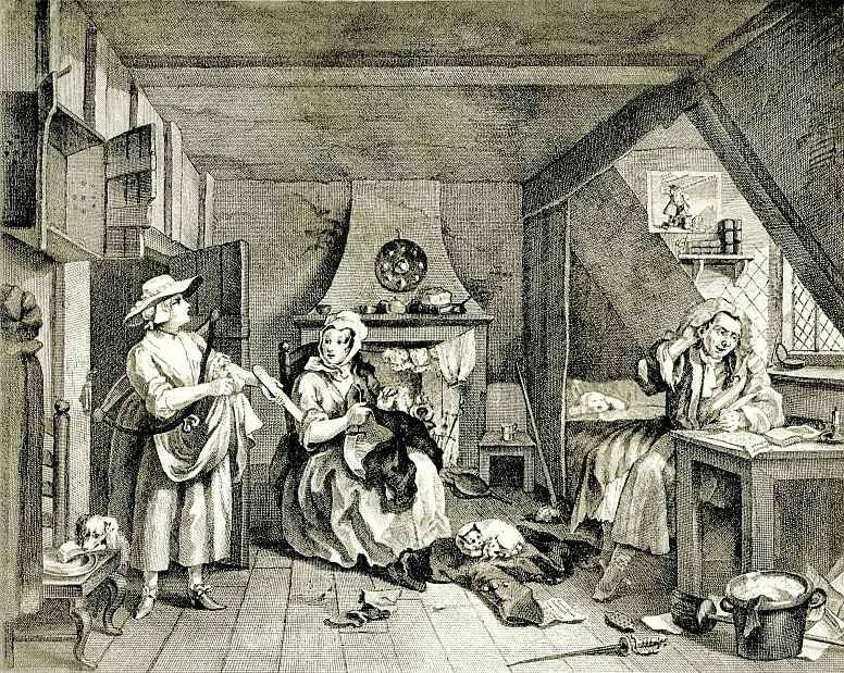 William Hogarth. Poverty-stricken poet