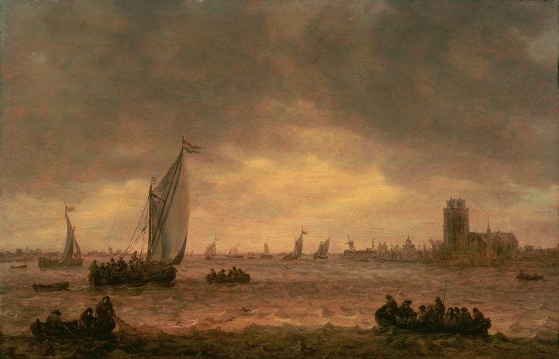 Jan van Goyen. The mouth of the river the Maas, Dordrecht