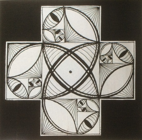 Vladimir Petrovich Chernov. Living Fibonacci cross. Double sided octopus