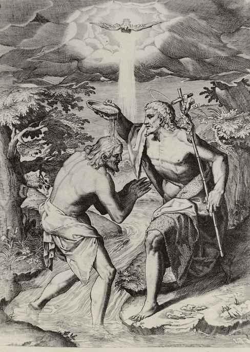 Аннибале Карраччи. Крещение Христа