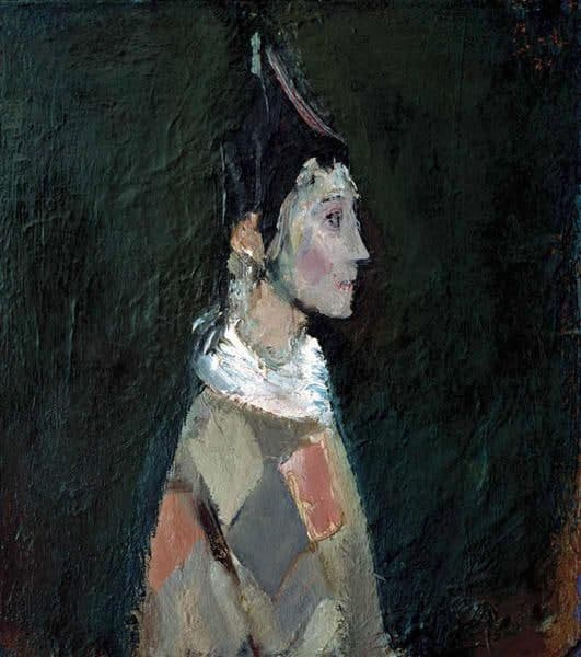 Corneliu Baba. Portrait (Harlequin)