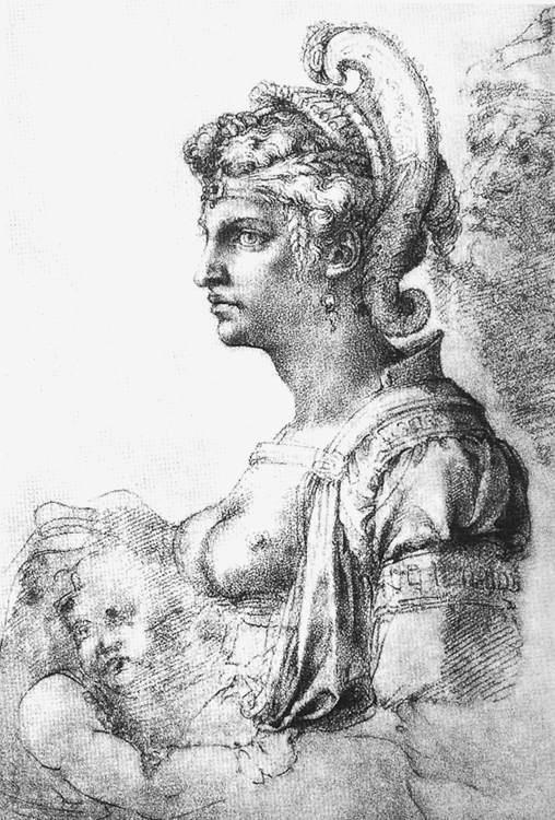 Микеланджело Буонарроти. Аллегорическая фигура.
