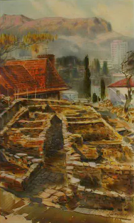 Hugo Schaufler. Alushta. Excavations of the fortress Aluston.