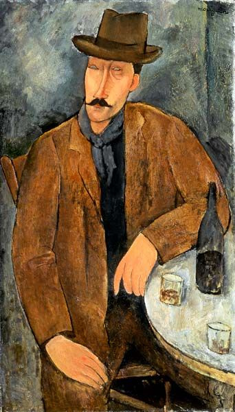 Amedeo Modigliani. Portrait of a man at the table