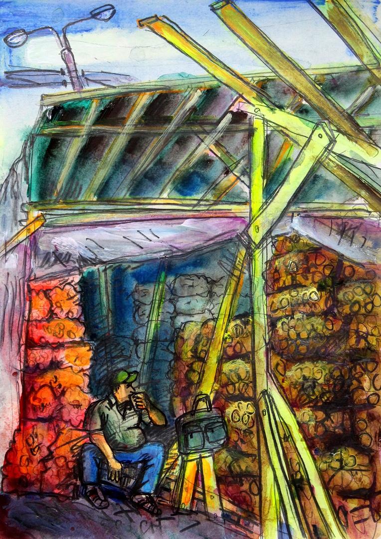 Ilya Pavlovich Spichenkov. Vegetable market