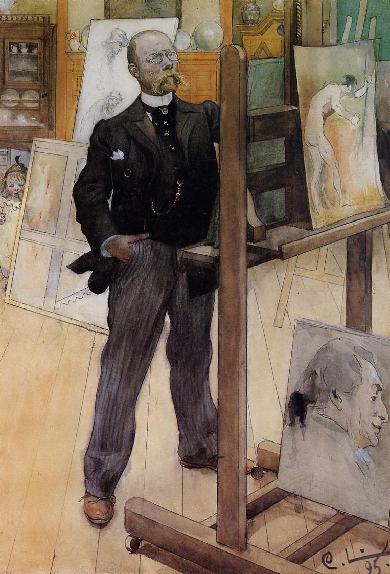 Carl Larsson. Self-portrait