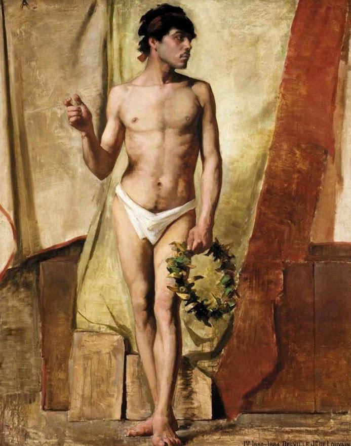 Жан Дельвиль. Мужчина с лавровым венком